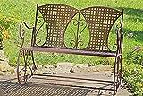 Mecedora banco de metal de hierro marrón mecedora banco 2 plazas para mecerse banco de metal Muebles de jardín Retro Nostalgia 106x74x87cm