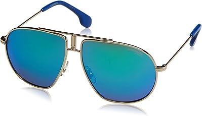Carrera Mirrored Square Unisex Sunglasses - (CARRERINO21 3YG 54Z9|54|Green Color)