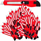 100x Cuttermesser Set ✔ Rasterautomatik ✔ Abbrechklinge ✔ 9mm Klingenbreite 【Mengenauswahl】 - Teppichmesser Paketmesser