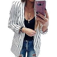 Mxssi Blazer Corto per Donna Slim Tailleur Cappotto a Maniche Lunghe Elegante Senza Chiusura Giacca da Abito Cardigan…