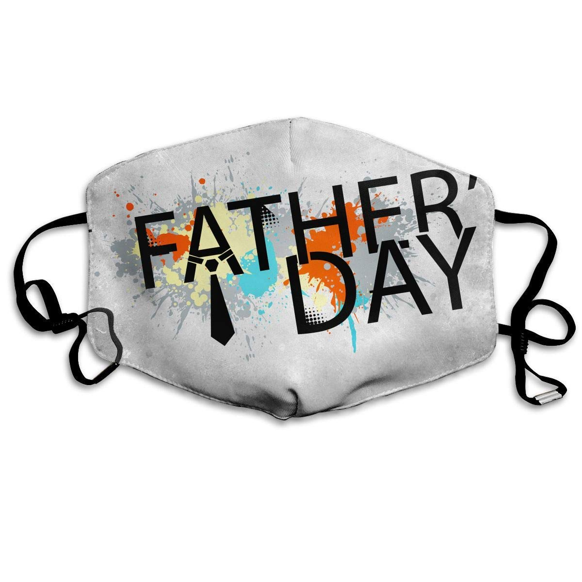 Daawqee Máscara de Boca, Antipolvo Cubierta de Boca Fathers Day Print Reusable Washable Earloop Máscara de Boca for Men Women