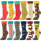 Damen Lustige Bunte Socken,Mädchensocken witzige Strümpfe, Fun Gemusterte Muster Socken, Verrückte Socken Modische Oddsocks Mehrfarbig Klassisch als Geschenk, Neuheit Sneaker (12 Paar-Fruits)