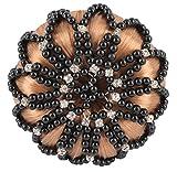 Horka Damen Knotennetz Deluxe von Perlen Strass Steine Wettbewerb Zubehör schwarz schwarz