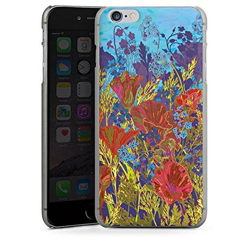 Apple iPhone 5s Housse Outdoor Étui militaire Coque Rouge Fleurs Fleurs CasDur anthracite clair