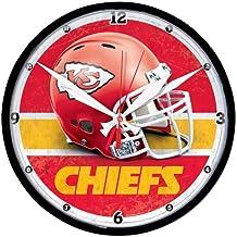 WinCraft Kansas City Chiefs casco de fútbol americano NFL reloj de pared 8057abac240