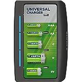 Caricabatterie Varta Universal – indicatore di ricarica LED – arresto di sicurezza – design esclusivo di Varta - Carica 2 o 4 batterie AA, AAA, C, D o 1x 9V - smontato