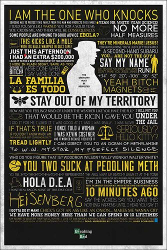 Empire merchandising 633 033 Breaking Bad - Tipografia dramma Humor televisiva Poster - dimensioni 61 x 91.5 cm