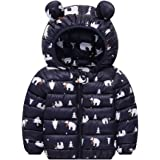 Baby Boys Girl Hoodies Coat, Kid Toddler Children Winter Long Sleeve Zipper Jacket Cute Ear Outwear