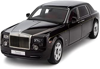 Webby Plastic 1:24 Scale Die Cast Rolls Royce Phantom Pull Back Sedan with Blinking Lights (Multicolour)