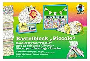 Ursus 13250099 Arte de papel 18hojas - Papel decorativo (Arte de papel, 18 hojas, Niño/niña, 300 g/m², 240 mm, 340 mm)