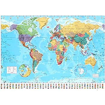 World map timezones country flags giant poster 100cm x 140cm world map timezones country flags giant poster 100cm x 140cm gumiabroncs Images