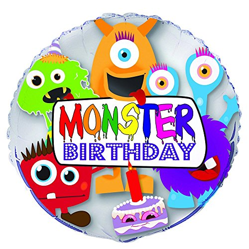 Unique Party Supplies 45,7 cm Folie Monster Geburtstag Ballon