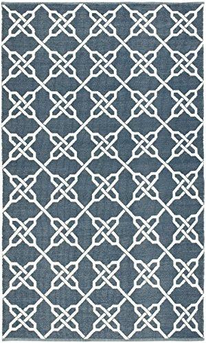 Safavieh Tioga Innen- / Außenteppich, Polyester-Mischung, Blau/Dunkelblau, 152 X 243 cm