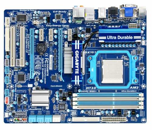 Raid-controller-board (Gigabyte GA-890GPA-UD3H Mainboard Sockel AM3 890GX+SB850 DDR3 Speicher ATX)