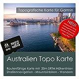 Australien Garmin Karte Topo 4 GB microSD. Topografische GPS Freizeitkarte für Fahrrad Wandern Touren Trekking Geocaching & Outdoor. Navigationsgeräte