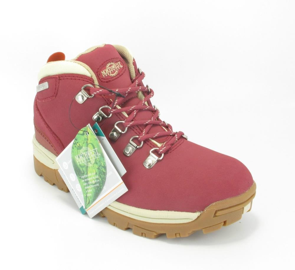 Northwest Trek Womens Waterproof Leather Lace Up Walking Hiking Boots