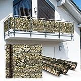 Balkon Sichtschutz 6x0,9m Stein Look Balkonsichtschutz Balkonverkleidung Sichtschutzmatte Balkonverkleidung Balkonbespannung