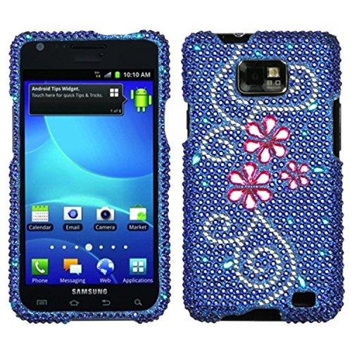 ASMYNA sami777hpcdm160np Dazzling Diamant Strass Schutzhülle Für Samsung: i777(Galaxy S II)-1Pack-Retail Verpackung-Juicy Blume -