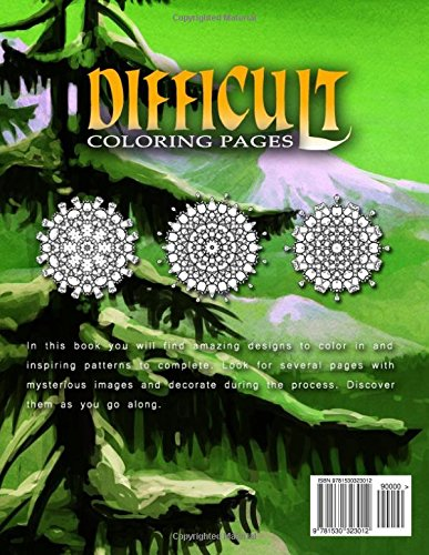DIFFICULT COLORING PAGES - Vol.4: coloring pages for girls: Volume 4