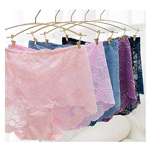 Surker Femmes Dentelle Brief Culotte taille haute Underwear caf¨¦