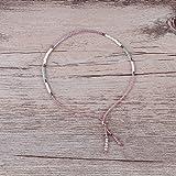 KELITCH Bohemian Armband Rocailles Perlen Handmade Mehrfarbig Zart Schnur Freundschaftsarmbänder - Rosa