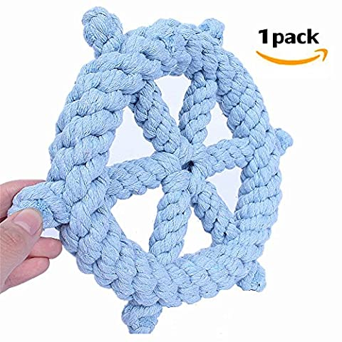 Morbuy Dog Chew Toy, Knots Rope for Small Dogs Teeth Cleaning Cotton Rope Dog Toy 1PC (B)