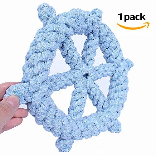 Morbuy Hund kauen Spielzeug, Geflochten Langlebig Pet Seil Welpen Spielzeug Baumwolle Zahnreinigung Seil Spielzeug Qualitativ Hochwertige Baumwolle Fasern Farbige Spielzeug 1PC (B)