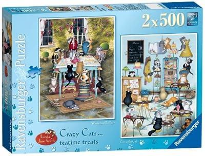 Ravensburger Crazy Cats - Tea Time Treats 2x 500pc Jigsaw Puzzle