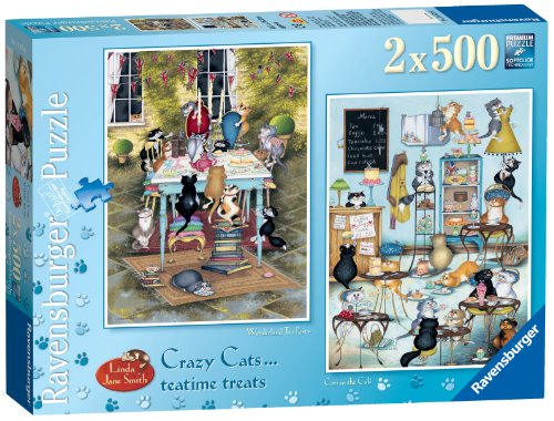 Ravensburger Crazy Cats - Tea Time Treats 2x 500pc Jigsaw Puzzle