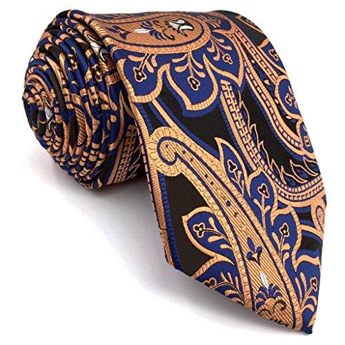 Shlax&Wing Einzigartig Extra lang Herren Krawatte Seide Mehrfarbig Geometrisch Blumen 63