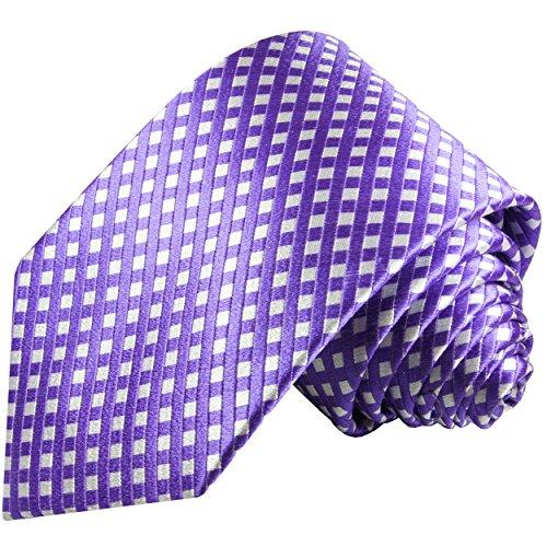 Cravate homme violet 100% soie