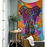 [Sponsored]Rainbow Tye Dye Elephant Tapestries Psychedelic Wall Hanging Elephant Tapestry Hippie Tapestry Wall Tapestries Bohemian Tapestries Indian Tapestry Wall Hanging