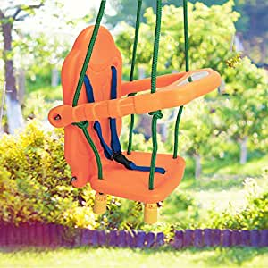 Costway baby toddler swing seat children safety chair for Baby garden swing amazon
