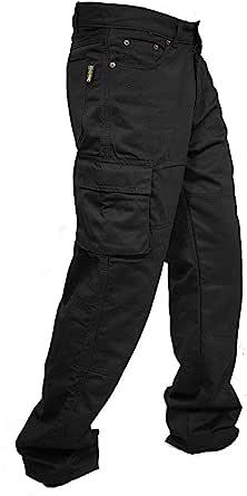 newfacelook Men Cargo Combat Trousers Multi Pockets Pants Mens Work Trousers for Man