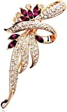 New Rhinestone Flower Brooch Lapel Pin Fashion Jewelry Women Wedding Hijab Pins Large Brooches for Women