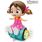 Toyshine 360 Degree Rotating Musical Dancing Girl Toy with Flashing Lights & Bump and Go Action, Activity Play Center…