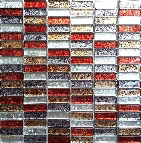 Vidrio Mosaico (Formato ladrillo en Hong Kong metalic Otoño Colores O