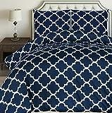 Utopia Bedding Bettwäsche-Set - Mikrofaser Bettbezug und Kissenbezuge - (200 x 200 cm, Marineblau)