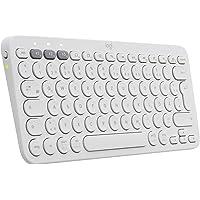 Logitech K380 kabellose Multi-Device Bluetooth-Tastatur mit Easy-Switch für bis zu 3 Geräte, schlank – PC, Notebook…