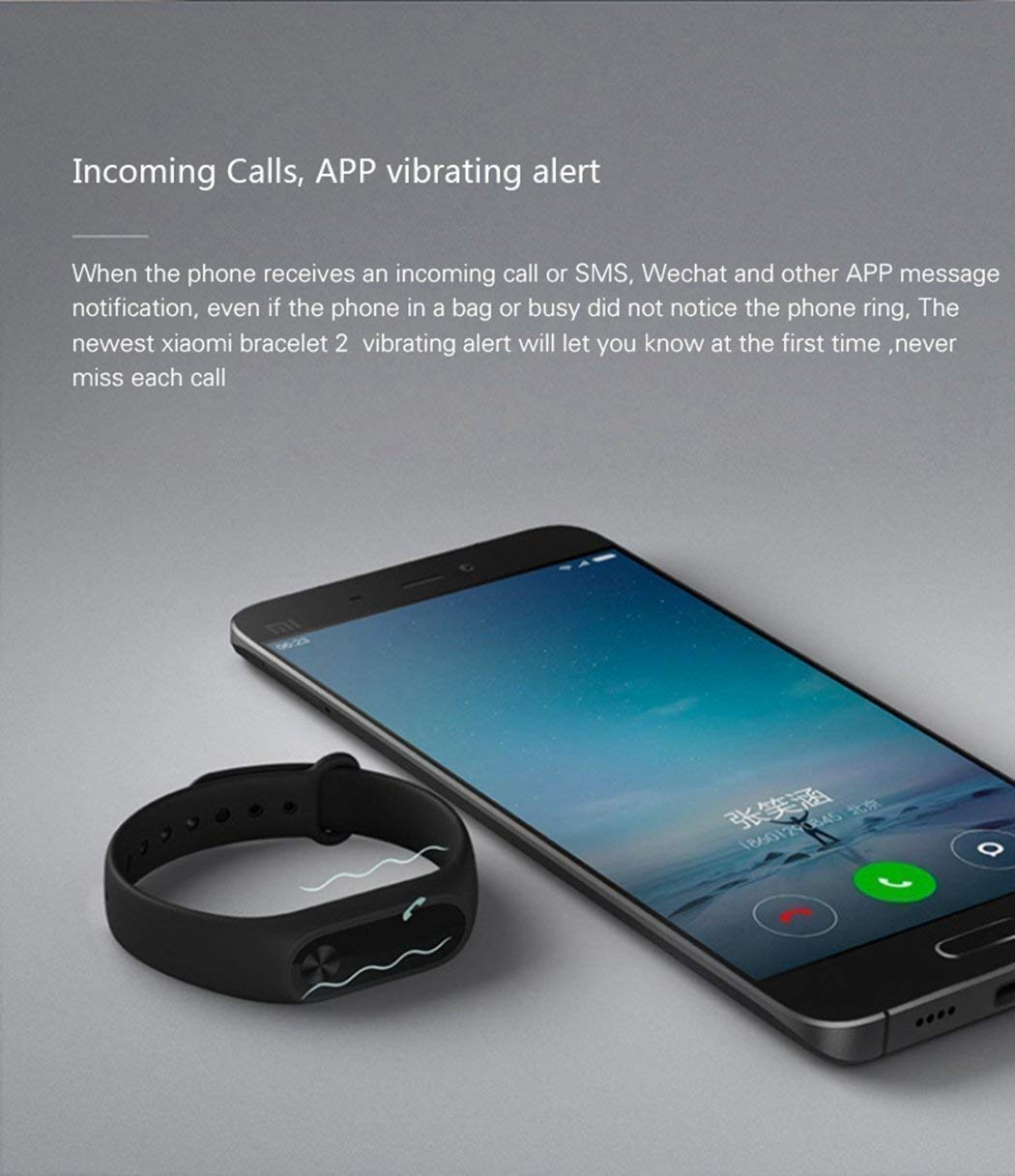 Xiaomi Mi Band 2 Fitness Smartband, Pulsera de actividad, con monitor de ritmo cardíaco, color Negro 3