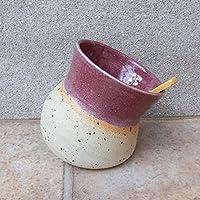 Salt pig or cellar hand thrown stoneware ceramic handmade pottery wheelthrown