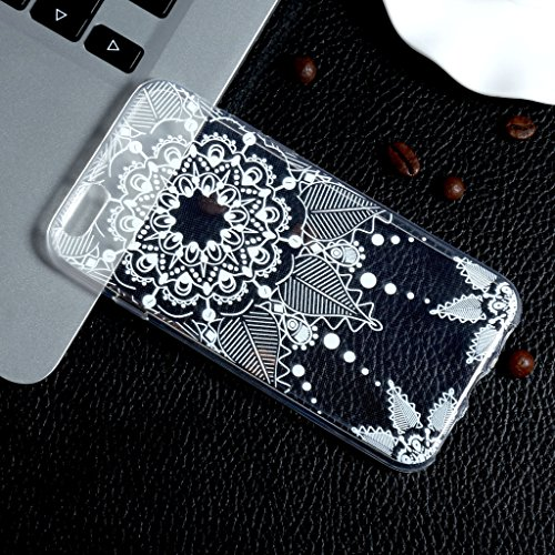 iPhone 7 Silikon Hülle , ivencase Transparent Handyhülle Schutzhülle TPU Clear Case Backcover Bumper Slimcase Etui Tasche für iPhone 7 aj50