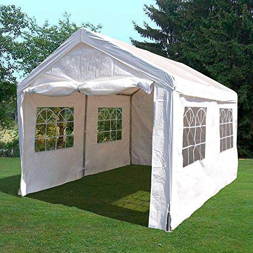 Pharao24 Partyzelt für Garten wetterfest Breite 400 cm