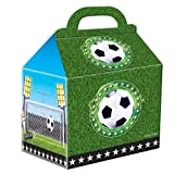 4 Partytüten * FUSSBALL-STADION *aus Pappe für Party und Geburtstag // Kinder Geburtstag Party Fete Set Mitgesel-Tüten Geschenktüten Fussball Soccer