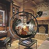 OOFAY LIGHT® Retro Industrie Stil Pfeile Globus Pendelleuchte Hängeleuchte Antiquität Kreativ Kronleuchter Cafe Bar Restaurant Persönlich Beleuchtung