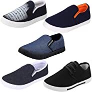 Earton Men Combo Pack of 5 Casual Loafer Shoe with Sneaker Shoe