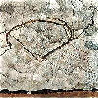 Posterlounge Forex-Platte 30 x 30 cm: Herbstbaum in bewegter Luft von Egon Schiele