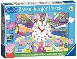 Ravensburger Peppa Pig–Sagen, die Zeit Uhr Puzzle, Haarstyling-Set Puzzle