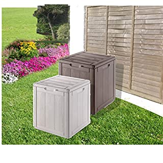 Hervorragende wetterfeste Outdoor-Aufbewahrungsbox für den Garten, grau, klein