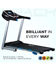 Reach Motorized Foldable Bluetooth Extra Cushioning with Double Deck Treadmill for Home (Multi-Color)
